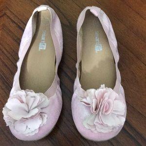 Girls Pink Ballet Flats sz 1.5